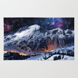 Mountain CALM IN space view Rug