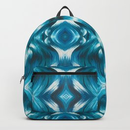 Turquoise Fractal Sea Backpack