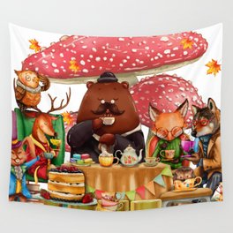 Autumn tea party #3 Wall Tapestry