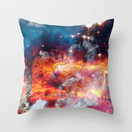 Journey Of Serious Soul Searching Throw Pillow
