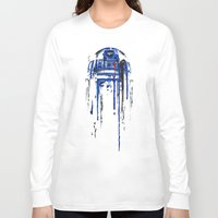 geek Long Sleeve T-shirts featuring A blue hope 2 by SMAFO