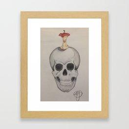 Skull and Apple Framed Art Print