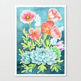 Botanical Aquarelle Canvas Print