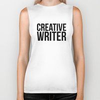 writer Biker Tanks featuring CREATIVE WRITER by Creative Adventures