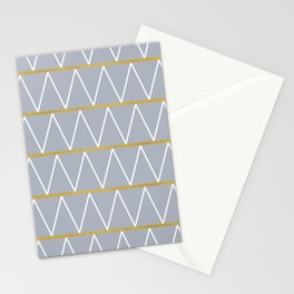 Gold and grey zigzag Stationery Cards