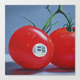 Tomatoes with Sticker Canvas Print