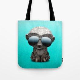 Cute Baby Honey Badger Wearing Sunglasses Tote Bag