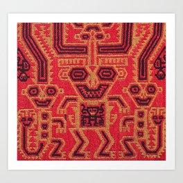 Three Monkeys Mantle Fragment Art Print