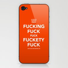 Fucking Fuck Fuck Fuckety Fuck- Orange iPhone & iPod Skin