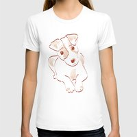 jack russell T-shirts featuring Jack russell by 1 monde à part