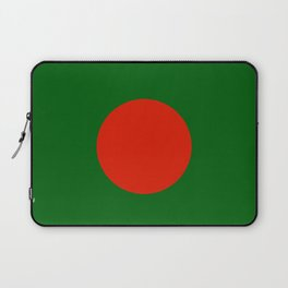 Bangladeshi Flag in green and red colors Laptop Sleeve