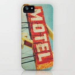 Thrashed Motel Sign iPhone Case