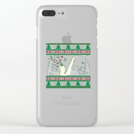 Saxophone Christmas Clear iPhone Case