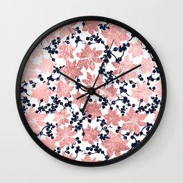 Plants pattern Wall Clock