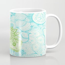 Blue Green Tangle Coffee Mug