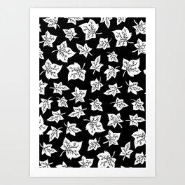 Autumn Leafs Pattern Art Print