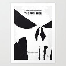 No676 My The Punisher minimal movie poster Art Print