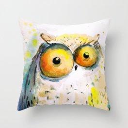 spring owl  Throw Pillow