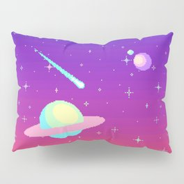 Pixelated Galaxy Pillow Sham