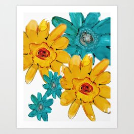 ANOTHER FLORAL Art Print