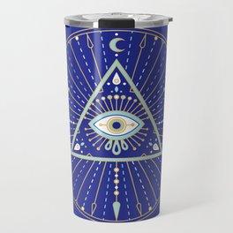 Evil Eye Mandala – Navy Travel Mug