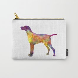 Hungarian Shorthaired Pointer in watercolor Carry-All Pouch
