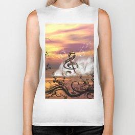 Colorful clef Biker Tank