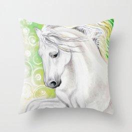 Andalusian Green Throw Pillow