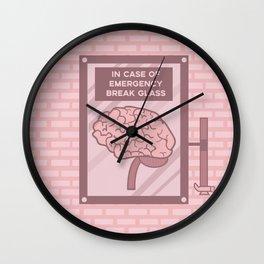 In case of emergency break glass Wall Clock