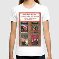 cinema T-shirts featuring VEGAS CINEMA!!! by Party Dragon