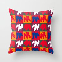matisse Throw Pillows featuring M for Matisse by CHOCOLORS
