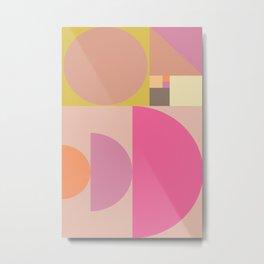 Modern Geometric Art Print Metal Print
