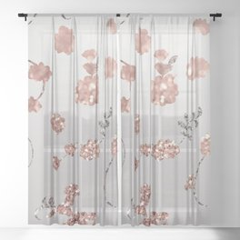 Spring Flowers, Nature 37 Sheer Curtain