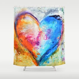 The Patience of Love Shower Curtain