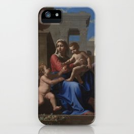 The Holy Family on the Steps by Nicolas Poussin iPhone Case