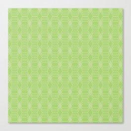hopscotch-hex bright green Canvas Print