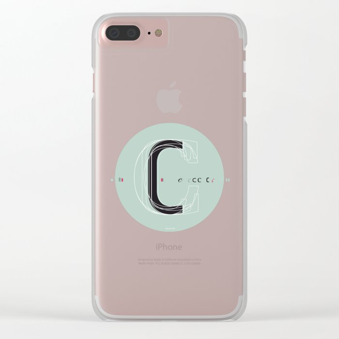 C c Clear iPhone Case