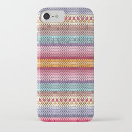 knitting pattern iPhone Case