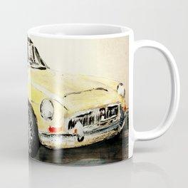 MGC 1969 Roadster Classic Sports Car Acrylics On Paper Coffee Mug