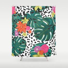 Shining Leopard Detailed Shower Curtain