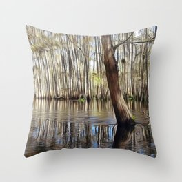 Standing strong against the current Throw Pillow