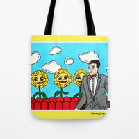 pee wee Tote Bags featuring Pee Wee's Playhouse by Jaime Knight Art