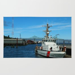 US Coast Guard On Columbia River Rug