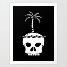 Skull Island – Black Art Print