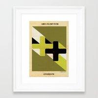 babina Framed Art Prints featuring shape mies van der rohe by federico babina