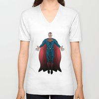 superheros V-neck T-shirts featuring FALSE GOD. by KODYMASON