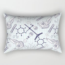 science graph paper Rectangular Pillow