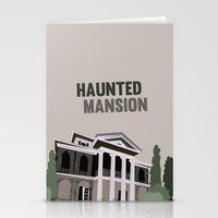 haunted mansion Stationery Cards featuring new Orleans square.. haunted mansion by studiomarshallarts