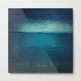 blue city underwater Metal Print