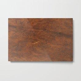Old Tan Leather Print Texture | Cowhide Metal Print